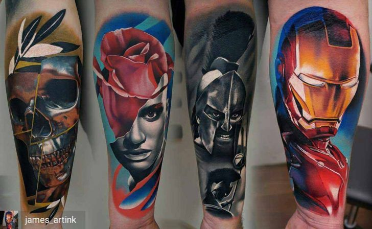 realistic tattoos on arm