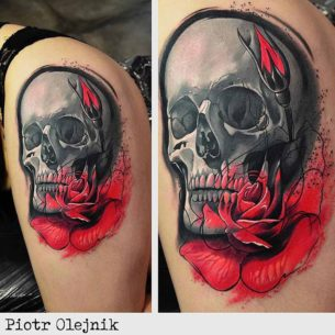 Cool Skull Tattoo on Hip