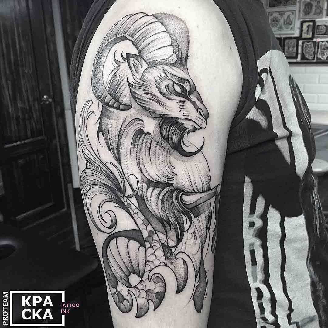 shoulder tattoo ram big