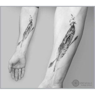 Feather Tattoo Arm