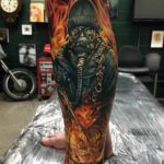 Flaming Man Tattoo Realistic