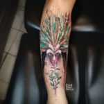 arm tattoo forest spirit