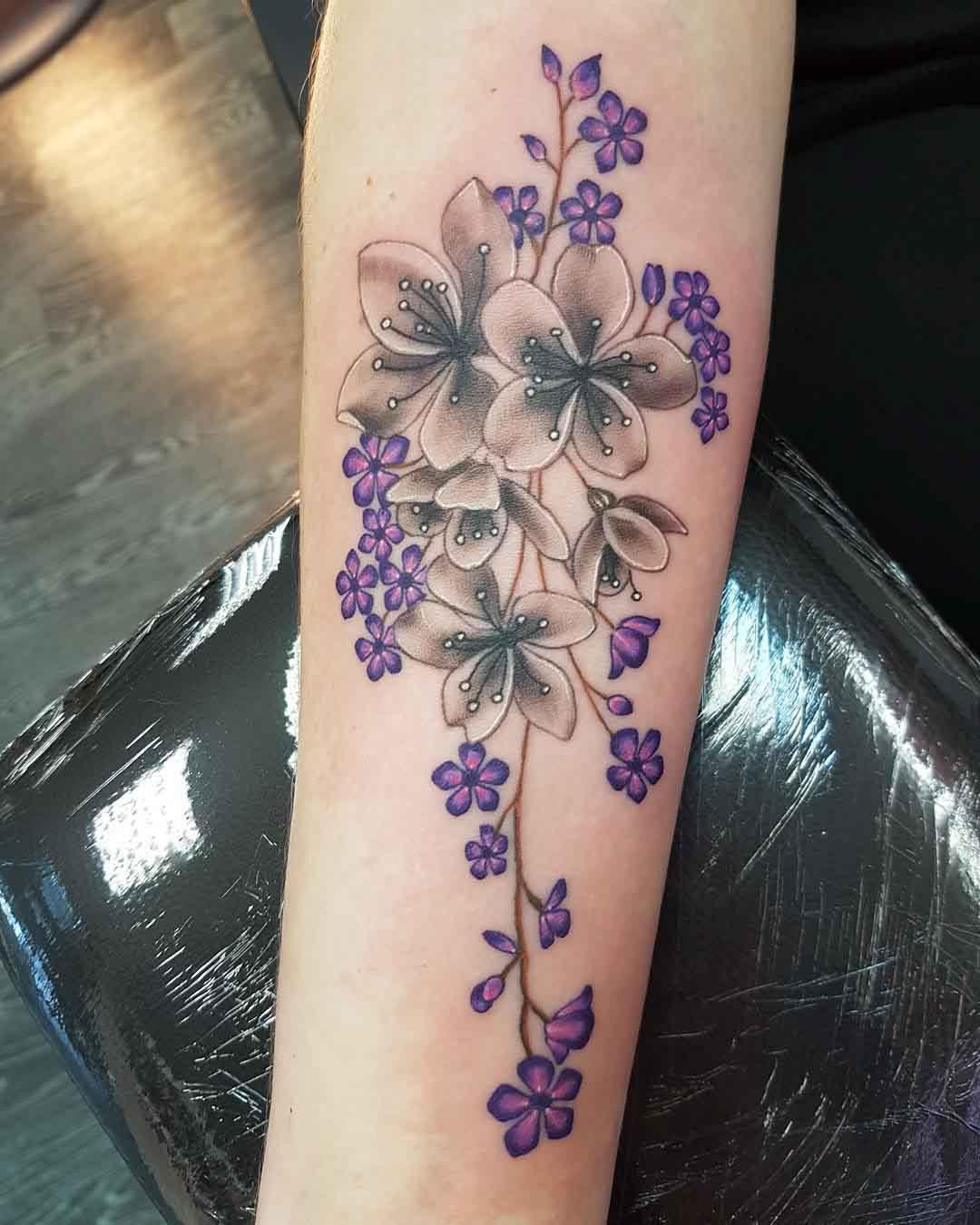 arm tattoo dlowers