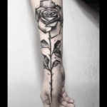 Hand Arm Rose Tattoo