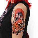 Kitsune Tattoo on Shoulder