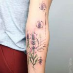 Minimal Lavender Flower Tattoo