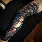 Nautical Realistic Leg Tattoo