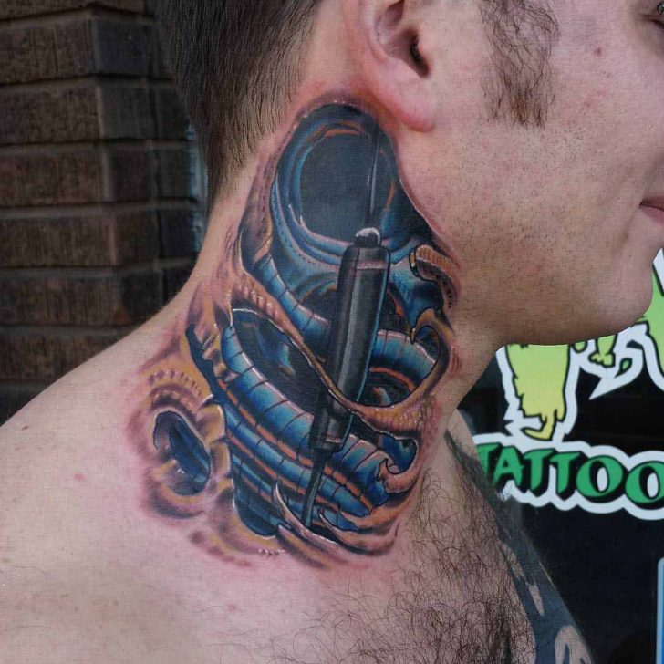 neck tattoo organical