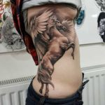 Pegasus Tattoo on Ribs