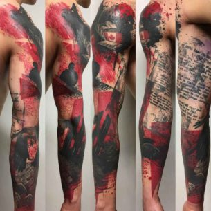 Polka Trash Tattoo Style