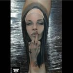Realistic Nun Tattoo