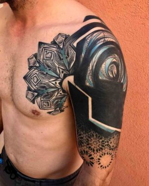 Shoulder Chest Tattoo