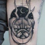 Sketchy Bulldog Tattoo