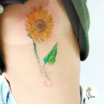 Sunflower Side Tattoo