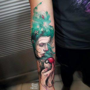 Tender Pokemon Tattoo on Arm