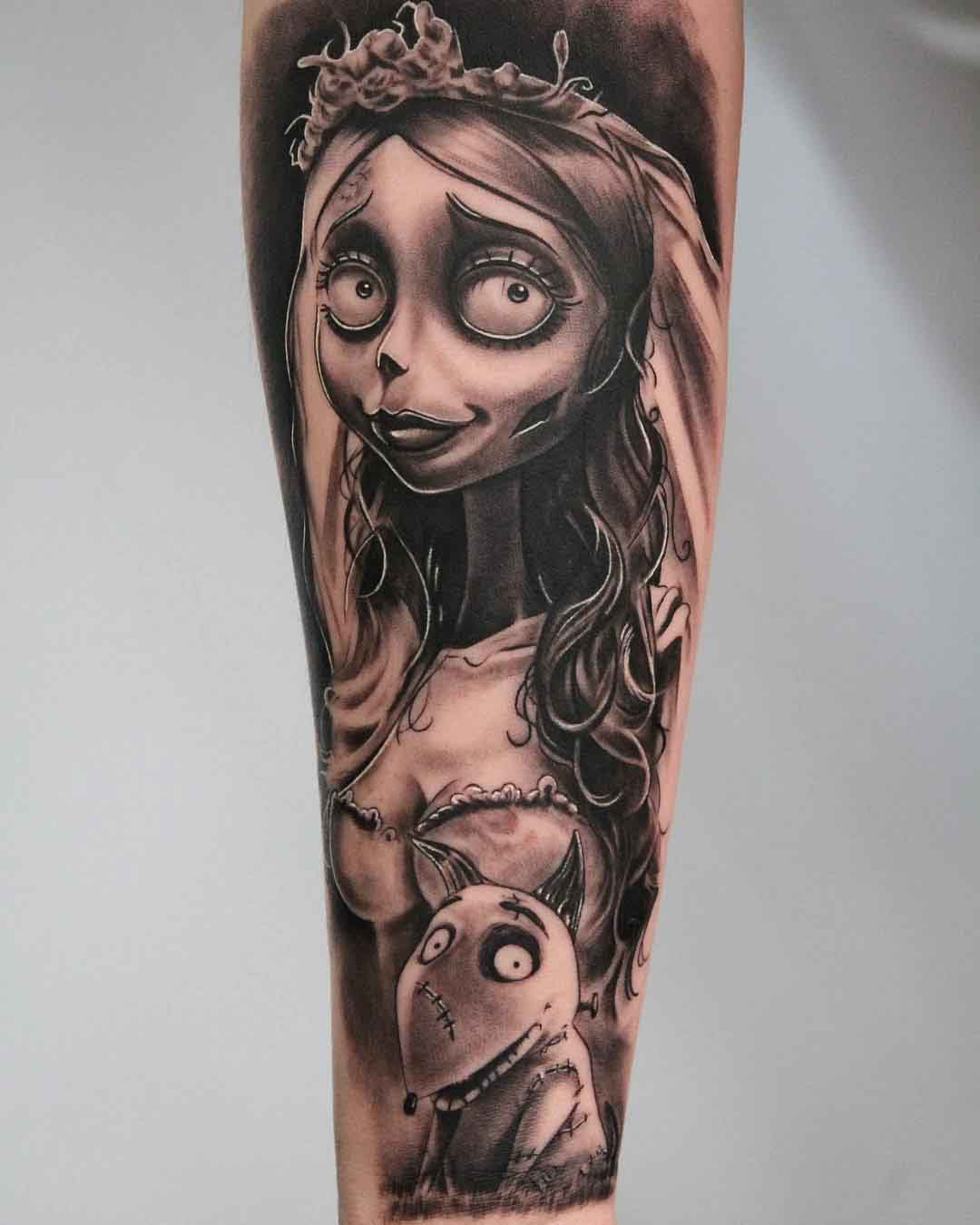 tim burton's animation tattoo