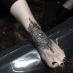 Upper Foot Mandala Tattoo
