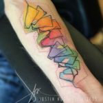 Watercolour Geometry Tattoo