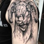 Big Shoulder Ram Tattoo