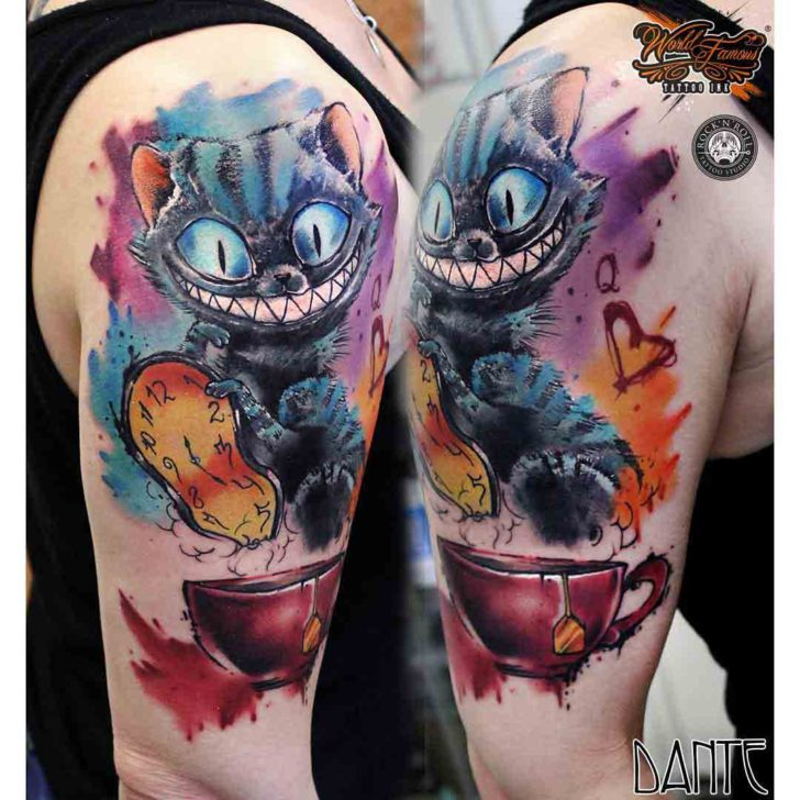 crazy cheshire cat tattoo best tattoo ideas gallery. Black Bedroom Furniture Sets. Home Design Ideas