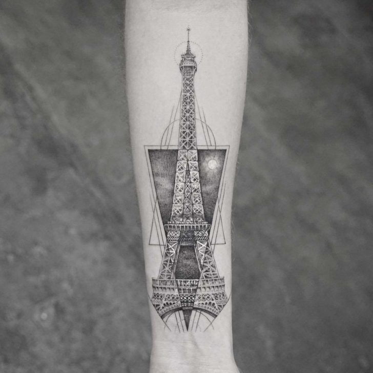 Eiffel tower tattoospace pictures to pin on pinterest for Tattoo shops junction city ks