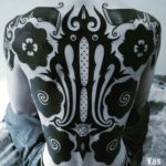 Full Back Blackwork Tattoo Ornament