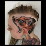 Girl With Fox Head Tattoo