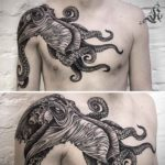 Kraken Tattoo on Chest