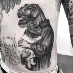 Mother and Son Dino Tattoo