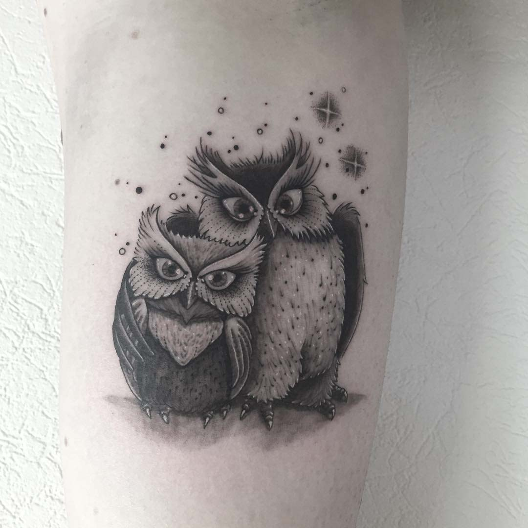 two owls tattoo