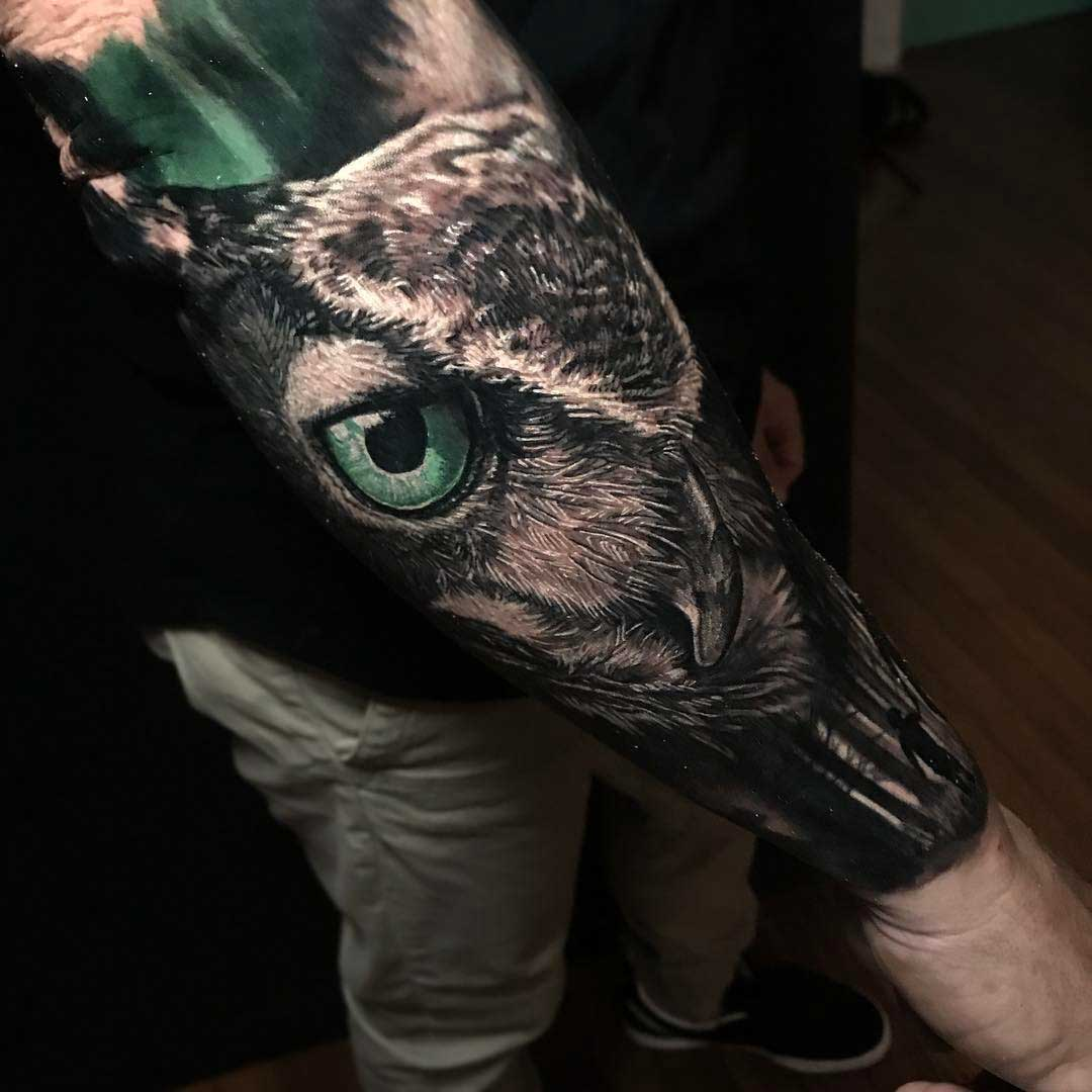 owl tattoo realism