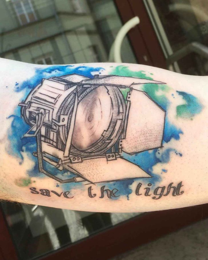 watercolor light tattoo