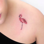 Small Flamingo Tattoo