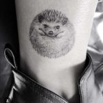 Small Hedgehog Tattoo on Ankle