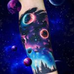 Space Tattoo Forearm Band