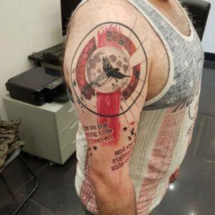 Trash Polka Time Tattoo