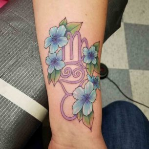 Zodiac Tattoo Piece on Arm