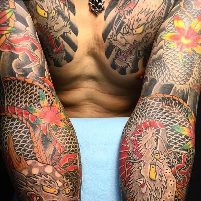 Yakuza Dragon Tattoo Sleeves