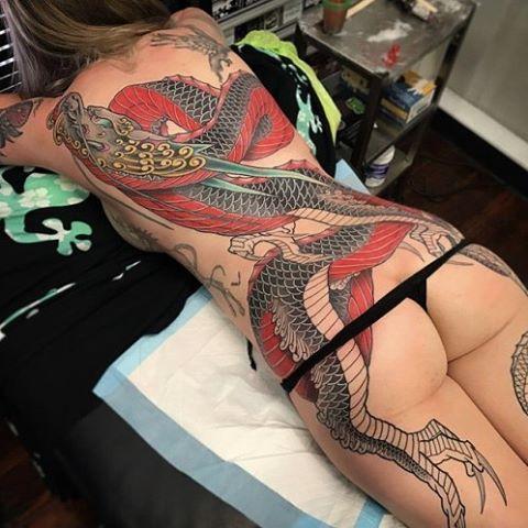 Girl Dragon Tattoo Irezumi