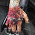 Fox Hand Tattoo