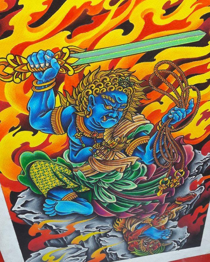 Flamming Fudomyo-o Tattoo Idea