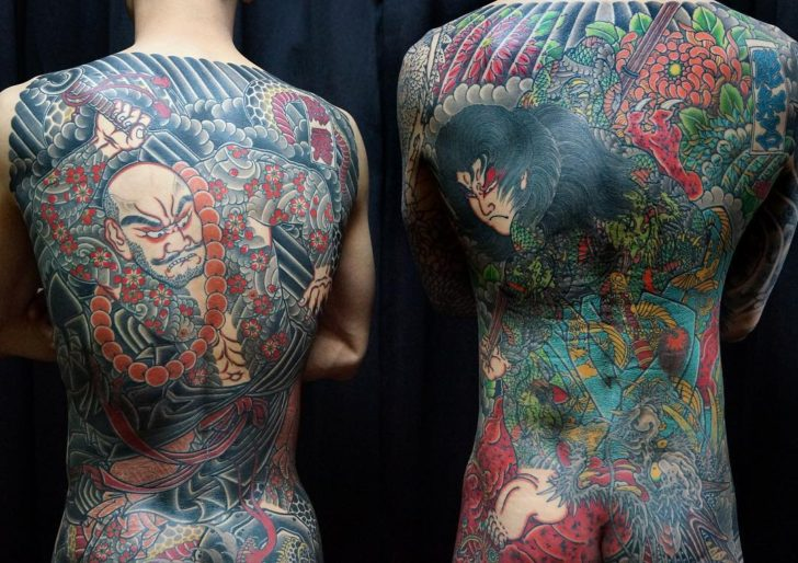 Upper Back Komonyu Shishin Tattoo