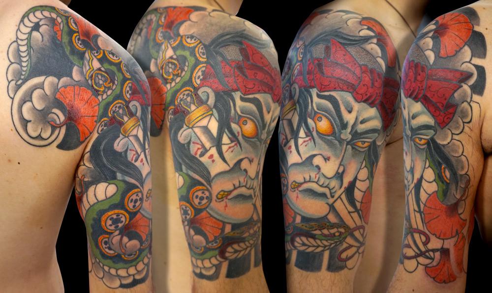 shoulder japanese tattoo