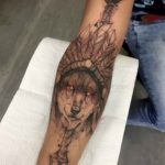 Native Wolf Tattoo