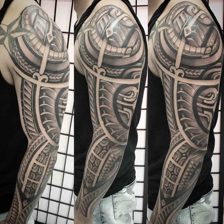 man tattoo sleeve