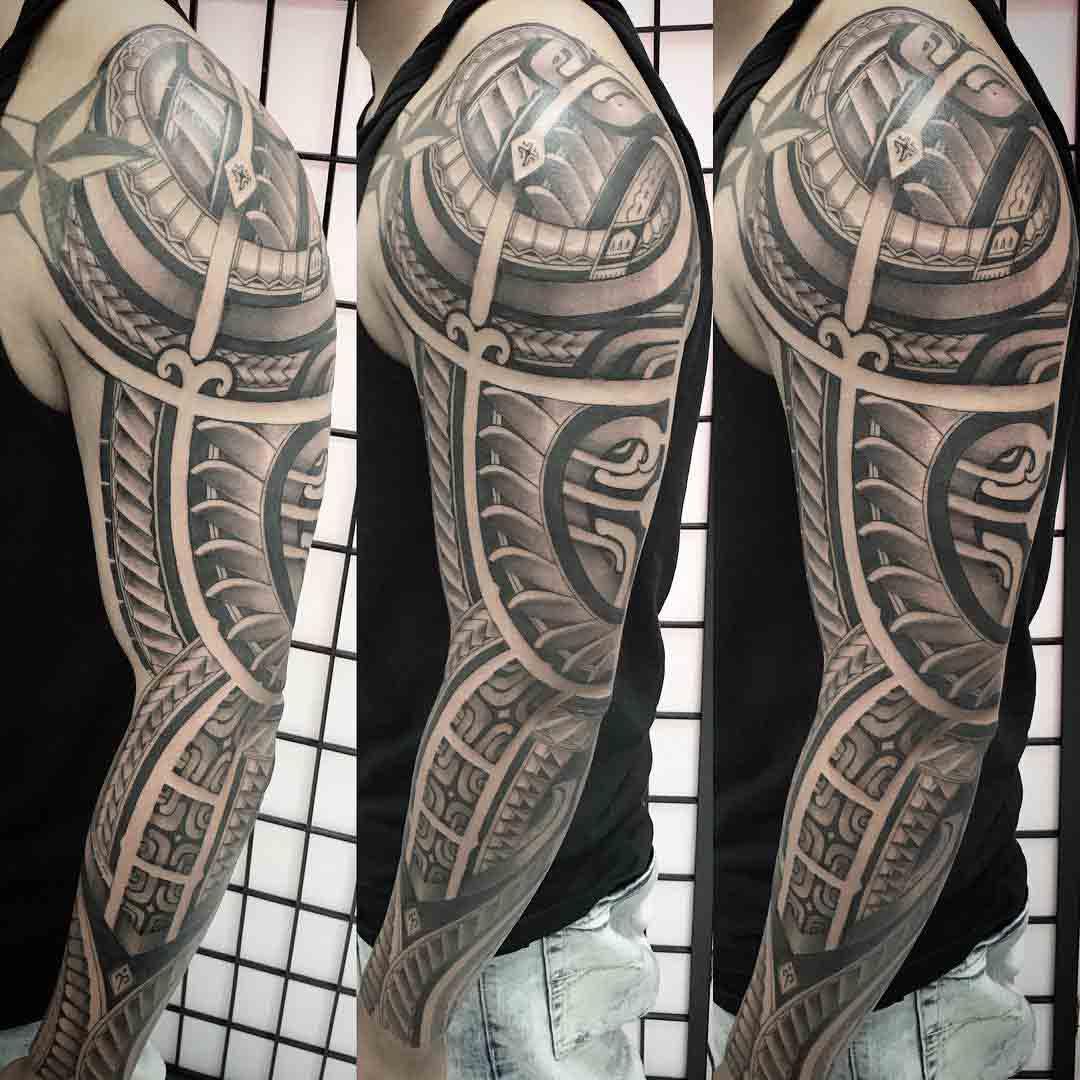 man tattoo sleeve