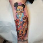 Watercolor Disney Tattoo on Arm