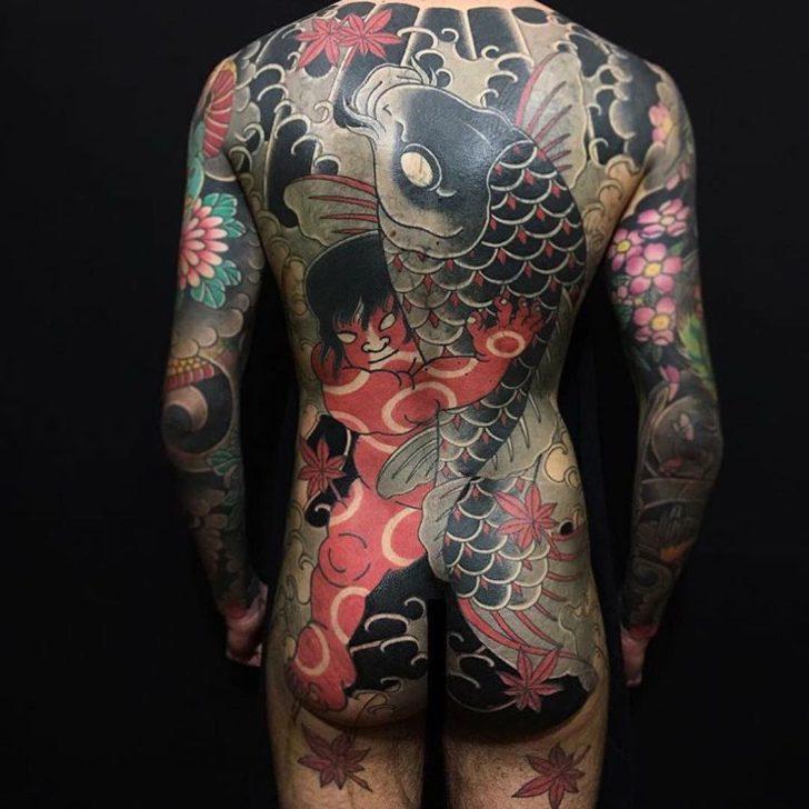 Big Fish Back Irezumi Tattoo
