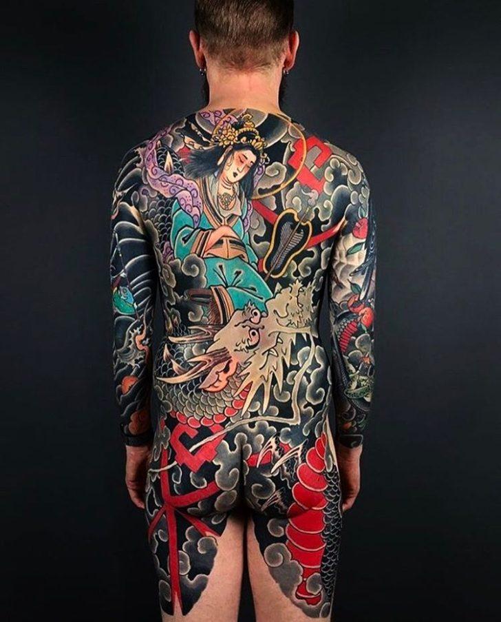 Full Back Tattoo Yakuza