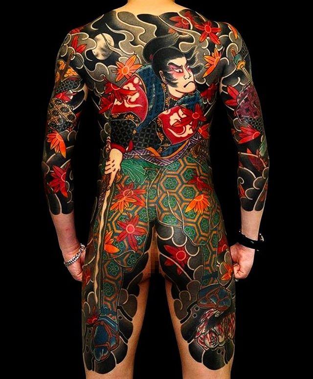Awesome Yakuza Tattoo on Back